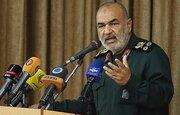 سرلشکر سلامی: جمهوری اسلامی به عنوان یک قدرت بزرگ برای دفاع از تمامیت خود تسلط دارد /در صورت خطای